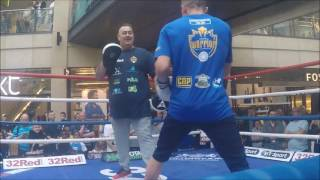 Josh Warrington and Kiko Martinez Public Workout - Trinity Leeds