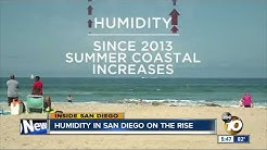 Humidity in San Diego on the rise