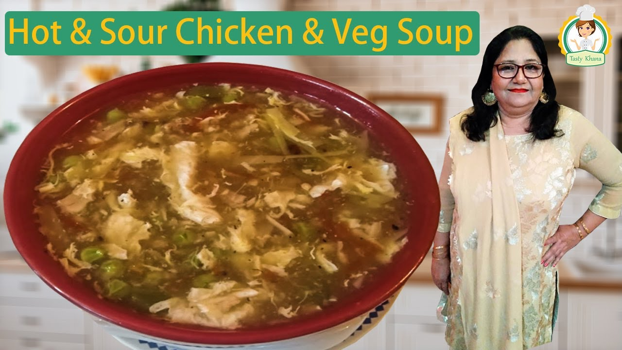 Hot and Sour Vegetable Soup Recipe By Tasty Khana