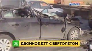ВПетербурге Самосвал Столкнулся СВертолетом