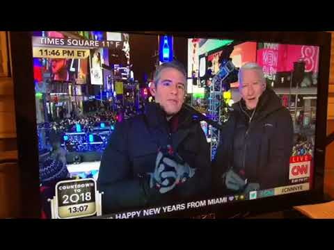 CNN Anderson Cooper Sounds Like He Sucked Helium From A Balloon On New Years Eve #CNNNYE