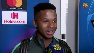 Ansu Fati: 'Estoy muy feliz por el gol y la victoria del equipo'