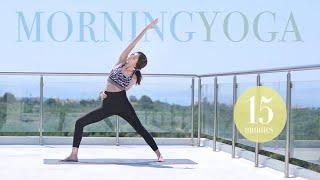 15' Energizing Morning Yoga with Nancy Pol (4K)