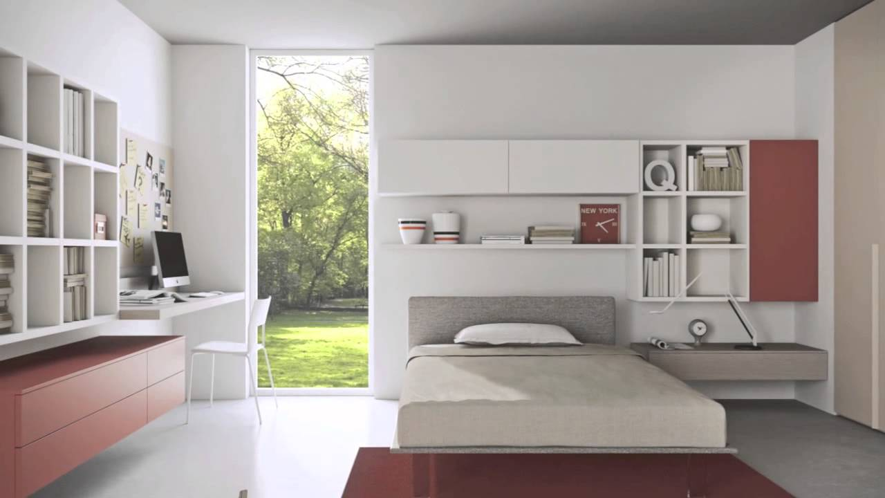 Attractive Modern Teenage Bedroom Ideas   YouTube