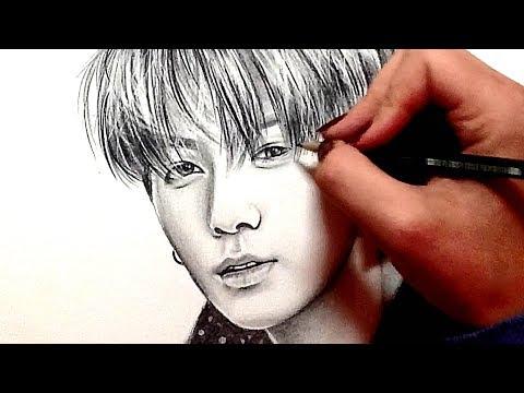 bts:-jeon-jungkook---pencil-drawing- -speeddrawing