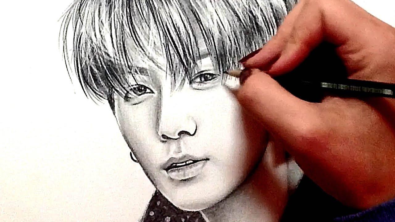 Jungkook Bts Drawings: BTS: Jeon Jungkook - Pencil Drawing