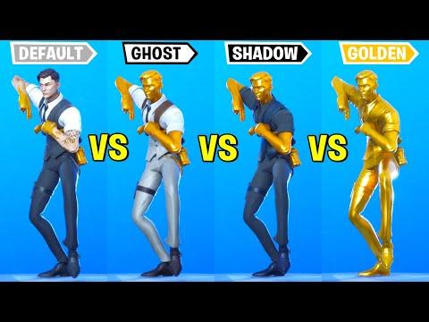 Default Vs Ghost Vs Shadow Vs Gold - Fortnite Dance Battle!