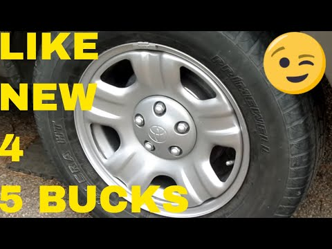 DIY Paint Your Wheels to Look New, Super Low Cost