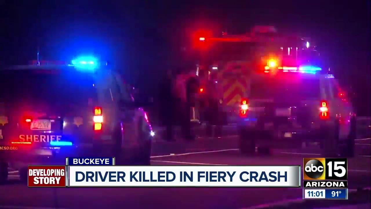 Fiery crash near I-10/Watson Road in Buckeye kills 1