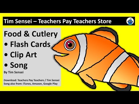 English Food Flash Cards, Clip Art and Song for Teachers