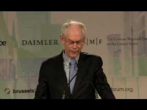 European Council President Herman Van Rompuy Addresses the 2011 Brussels Forum
