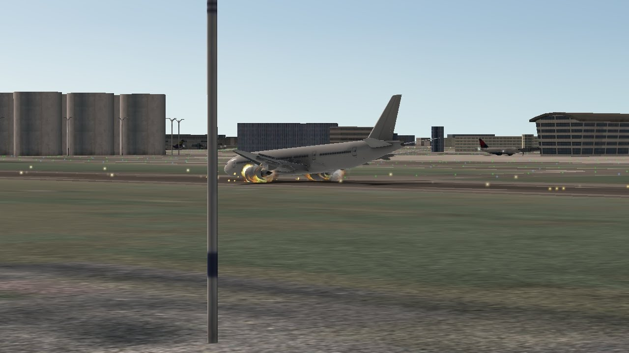 B777-200 Landing Without Gear