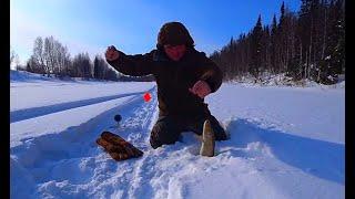Рыбалка на щучьем озере Ловим щуку на жерлицы Поймали хорошего трофея