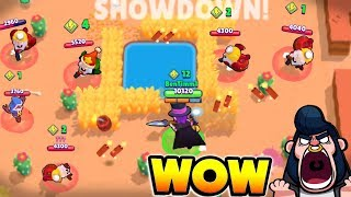 MORTIS DOMINATES SHOWDOWN TEAMER NOOBS ON HOT MAZE IN BRAWL STARS!