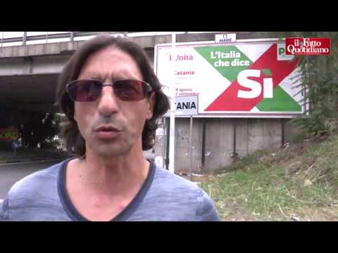 Catania, i manifesti