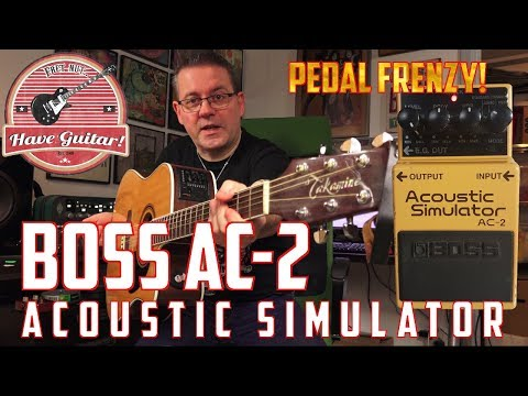AC-2 Acoustic Simulator by BOSS (Guitar effect pedal demo)