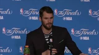 Kevin Love Postgame News Conference | Warriors vs Cavs Finals Game 2 | June 4, 2017