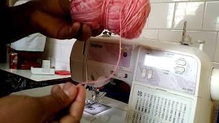 Bordando com linha de crochê na máquina de costura doméstica