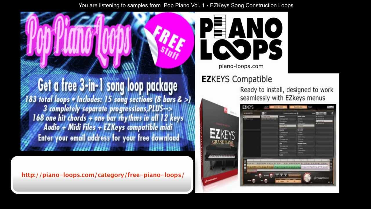 Piano-Loops Pop Piano Songwriting Loops Vol 1 Expanded Edition MIDI
