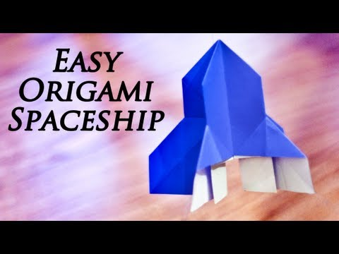 How To Make An Easy Origami Spaceship Youtube
