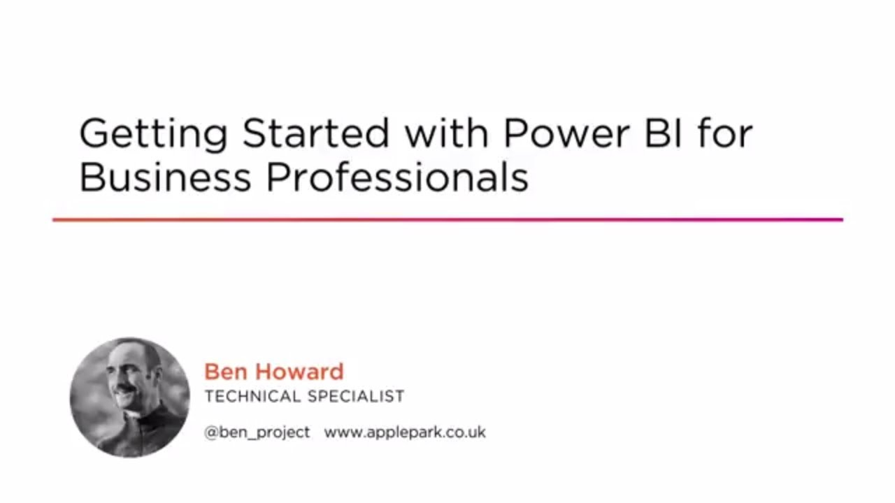 Course Preview: Getting Started with Power BI for Business Professionals