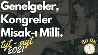 Gambar cover 30) Genelgeler ve Kongreler | Misaki Milli | AYT Tarih, TYT Tarih 2020