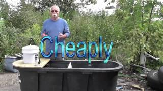 How to build a Huge Bait tank cheaply 150 Gal
