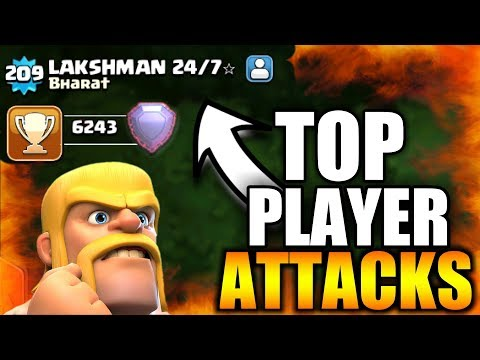 TOP PLAYER: LAKSHMAN 24/7 BEST ATTACKS IN CLASH OF CLANS