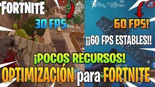 ¡¡OPTIMIZACIÓN para FORTNITE para PC de POCOS REQUISITOS!! 60 FPS ESTABLES!! + TEST!!
