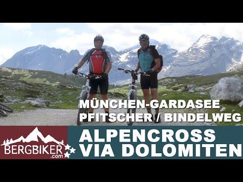 MTB Alpencross  München - Riva über Dolomiten - Transalp Alpenüberquerung Mountainbike