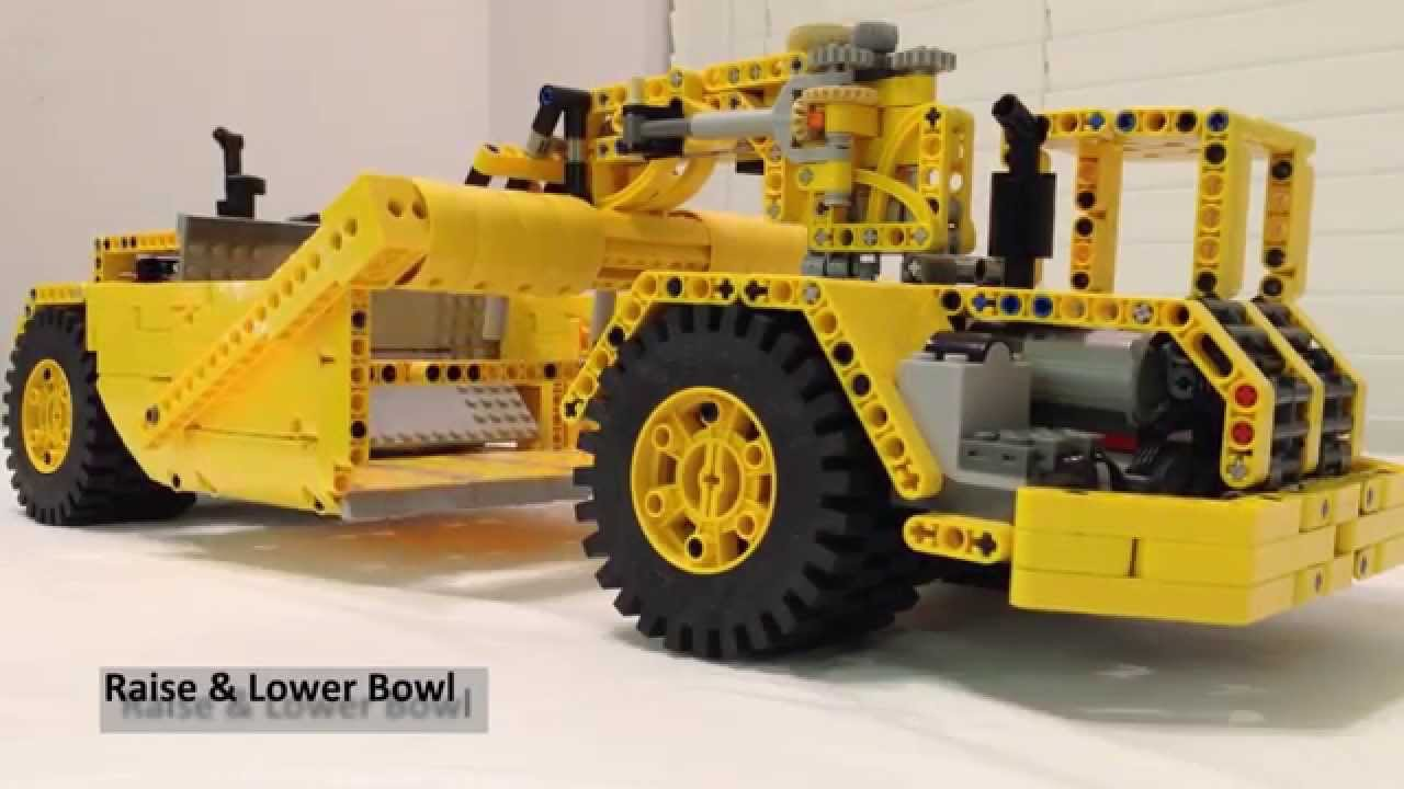 custom lego technic earthmover scraper youtube. Black Bedroom Furniture Sets. Home Design Ideas