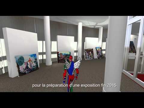 Maquette virtuelle de l'Espace Saint-Jean à Melun - Moya Land de Second Life