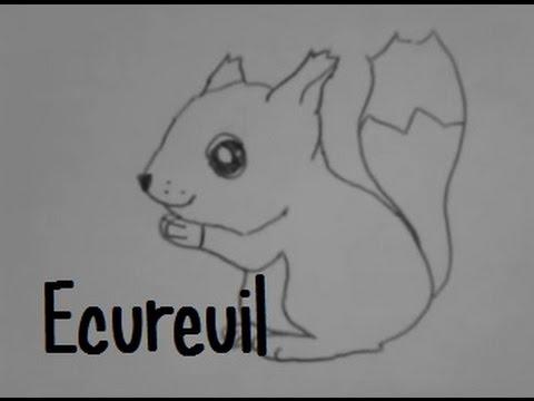 Dessiner un cureuil 3 youtube - Ecureuil a dessiner ...