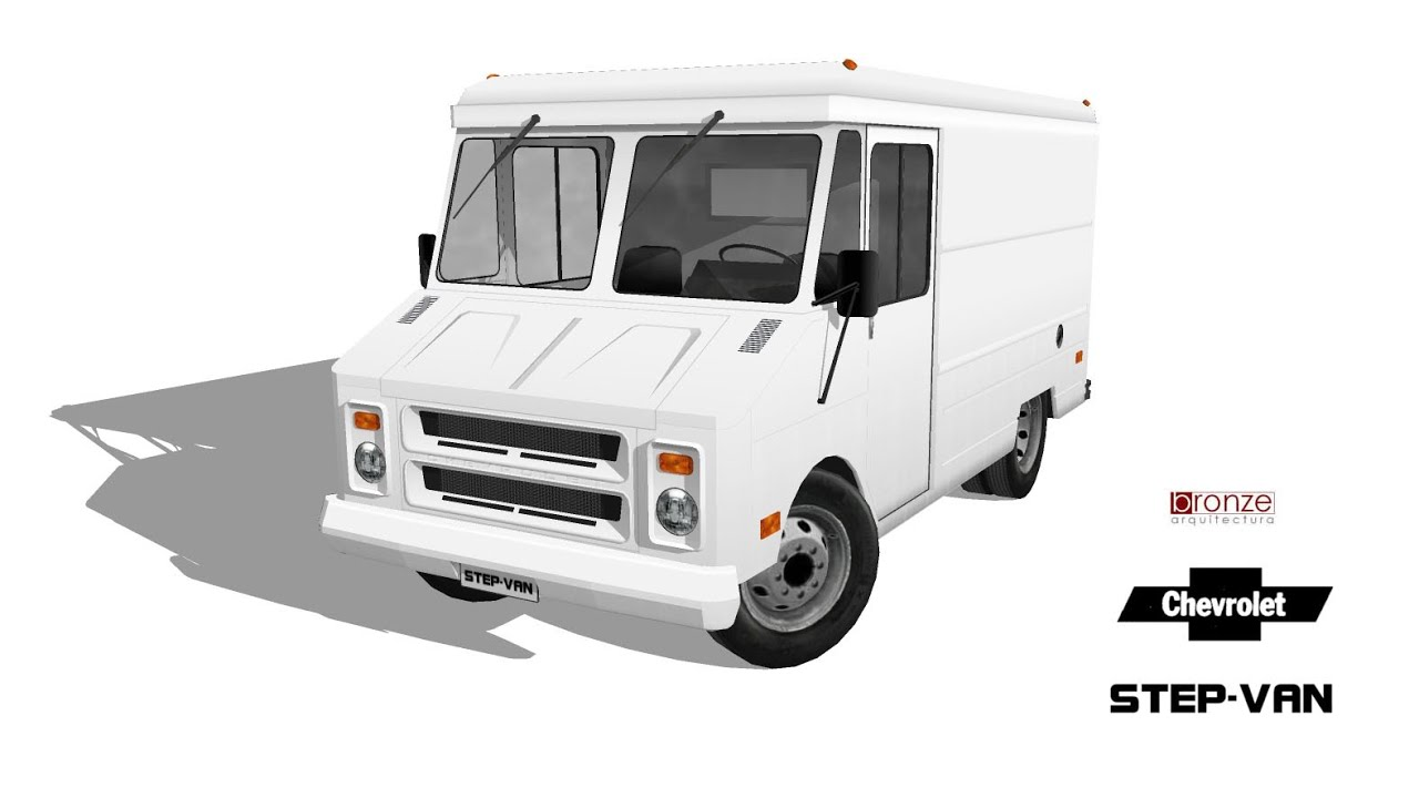 Chevrolet Step-van, 1980, 3d in SketchUp. - YouTube