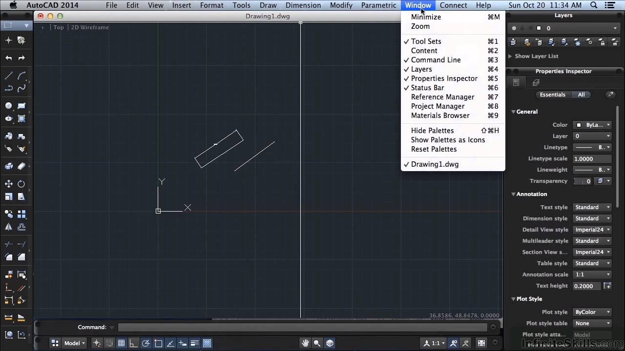 AutoCAD 2014 for Mac Tutorial | Toolbars And The Menubar - YouTube