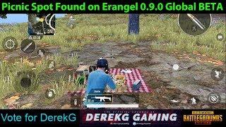 PUBG Mobile BETA 0.9.0 - New Picnic Spot with Music Found on Erangel | DerekG