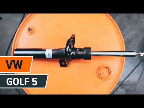 How to replace a front shock absorber on VW GOLF 5 TUTORIAL | AUTODOC