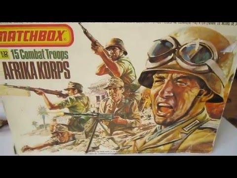 Matchbox 1:32 Afrika Korps ww2  painted!