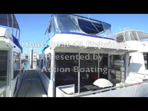 Houseboat 45 Flybridge for sale, Action Boating, boat sales, Gold Coast, Queensland, Australia
