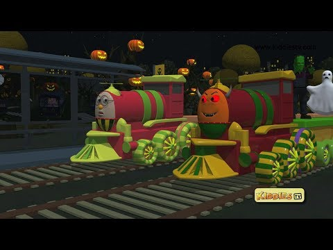 Halloween with Humpty the train for kids | for children | happy halloween | kindergarten | Kiddiestv