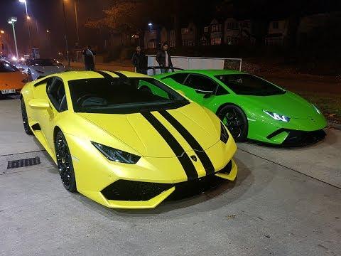Aleem Lambo Meet   R34 Vs Aventador SV & Performante?
