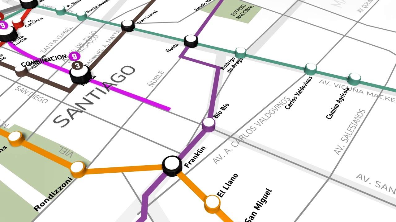 Mira El Recorrido Que Tendra La Linea 9 Del Metro De Santiago Youtube