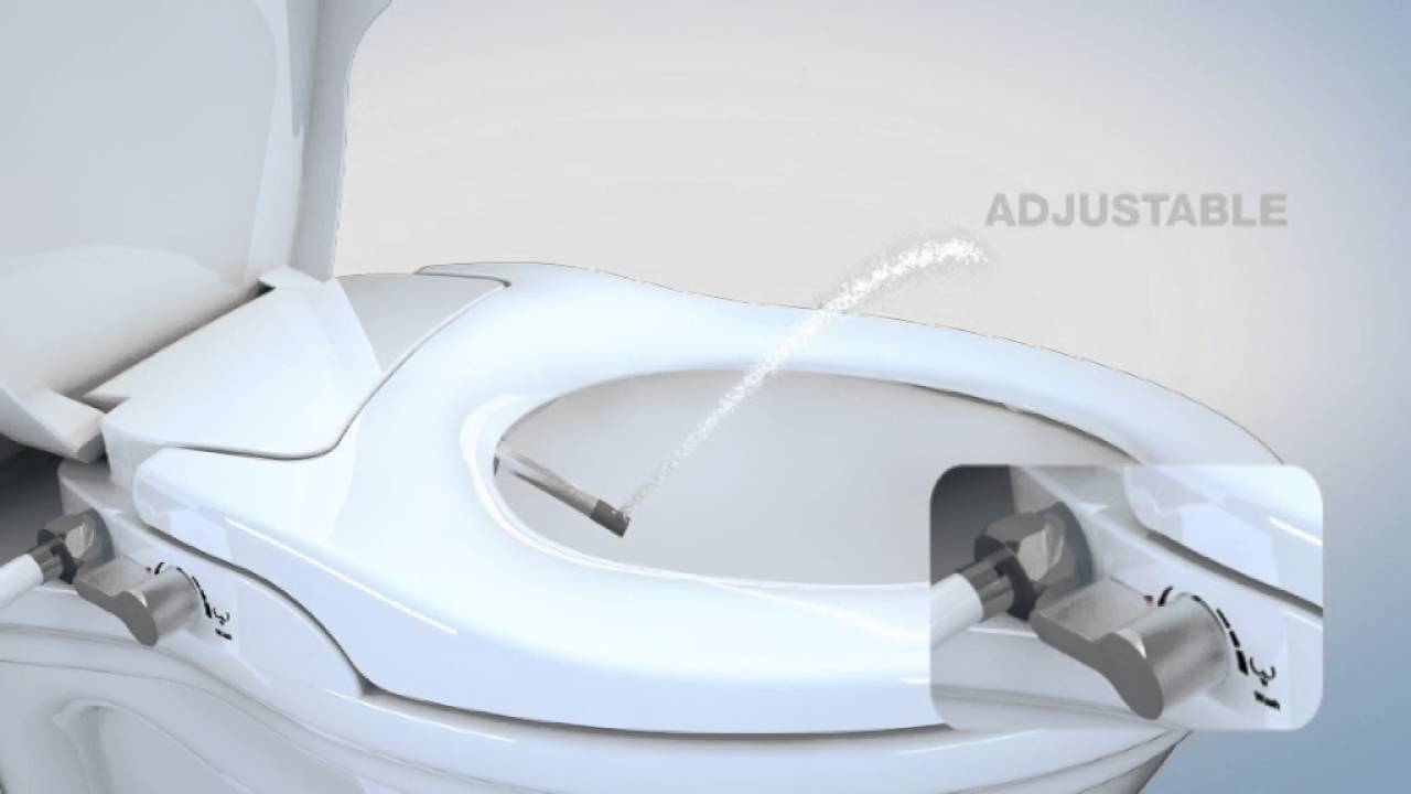 Hibbent Bidet Toilet Seats   Non Electric Bidet Seat   Soft Close And Dual  Nozzles Sprayer