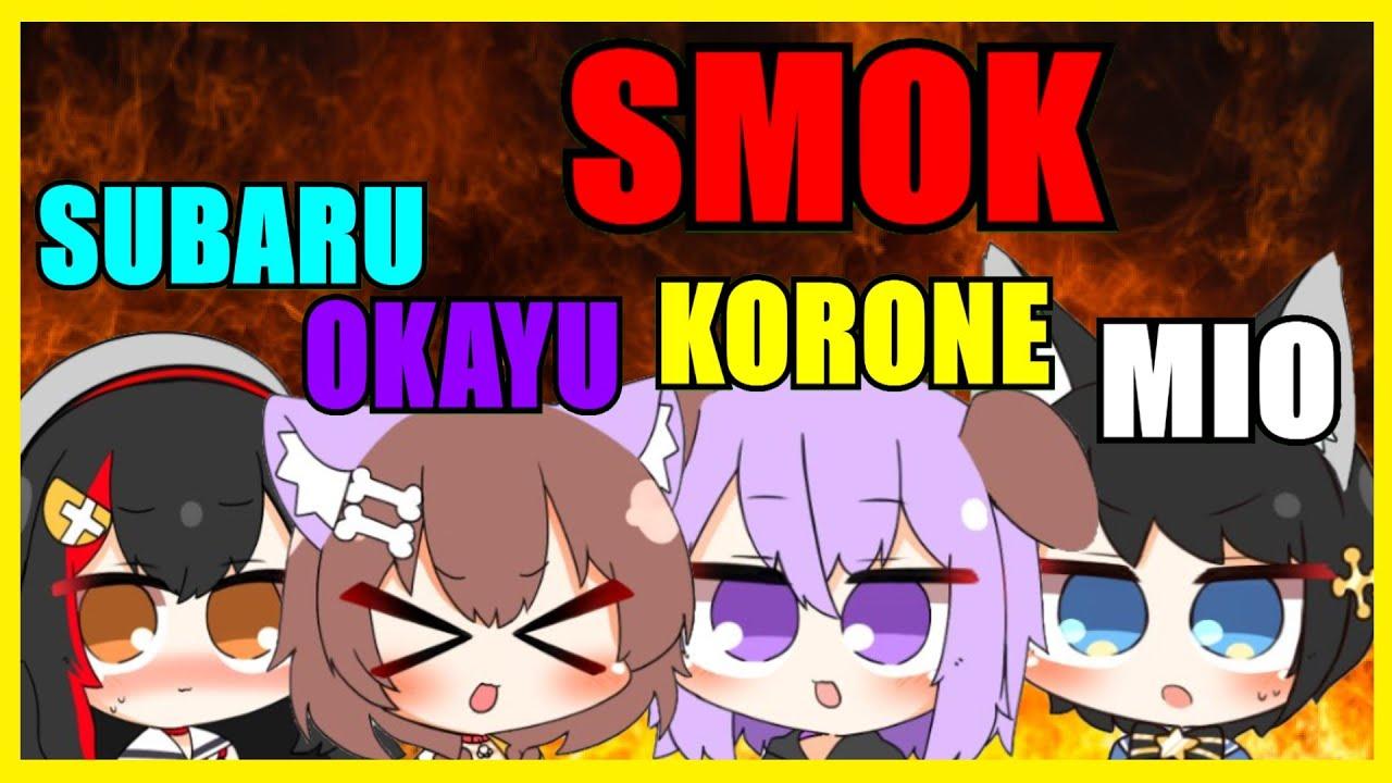 Download 【Hololive】Okayu Gone Wild Imitating As Korone ft. Mio, Korone, Subaru【SMOK】【Eng Sub】