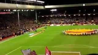Liverpool Vs Besiktas. You'll Never Walk Alone