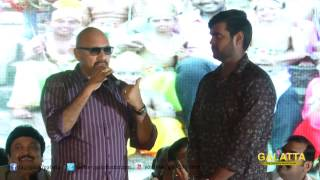 Sathyaraj at Sagaptham Audio Launch | Vijaykanth | Shanmugapandian | Galatta Tamil
