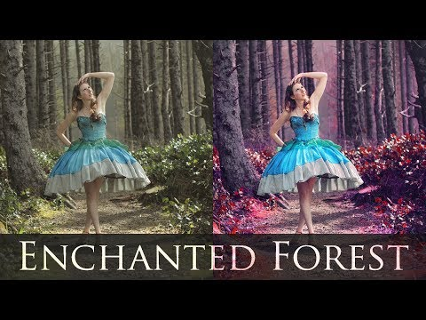 Enchanted Transformation Speed Edit Retouch Timelapse (Adobe Photoshop Tutorials CC Creative Cloud)