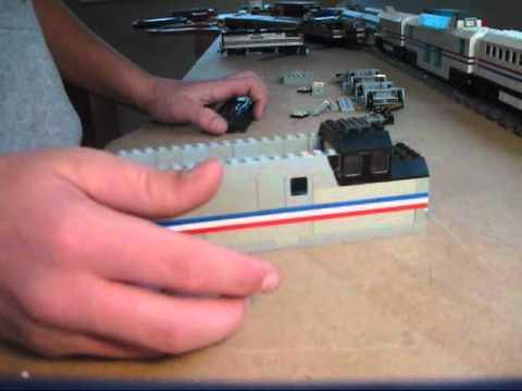 How to build a lego Amtrak F40PH
