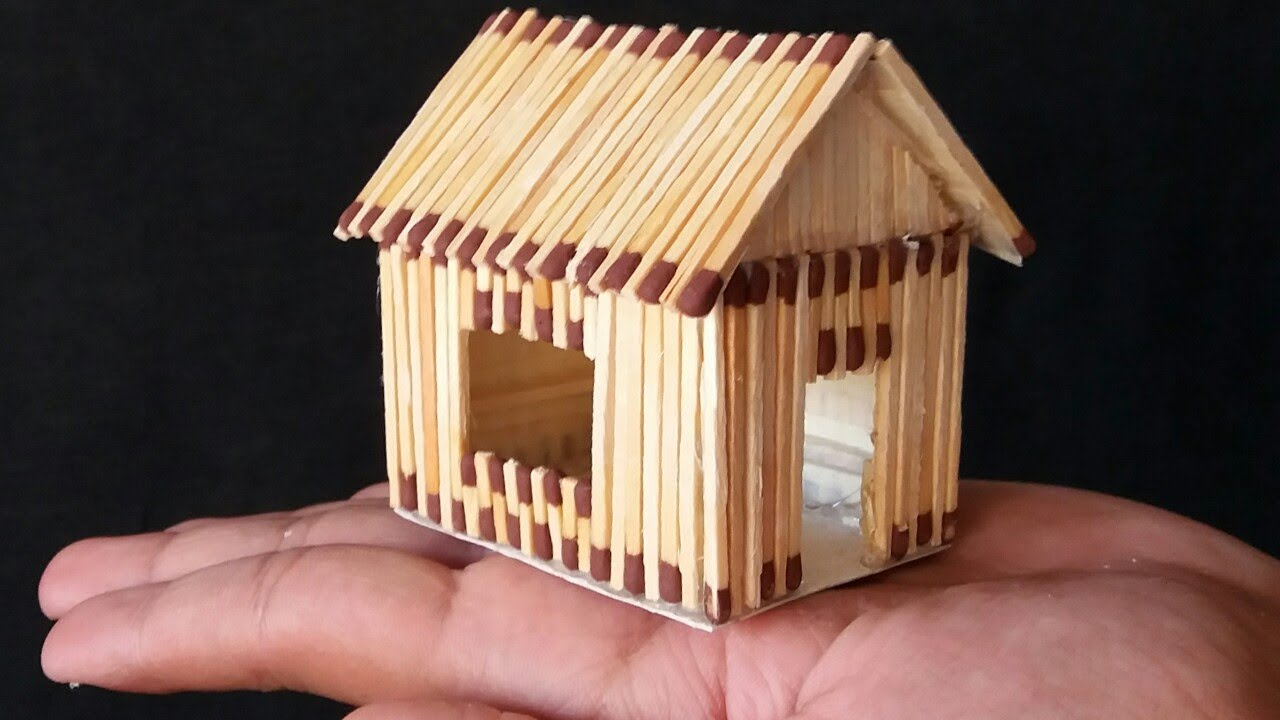 How To Make A Match House With Different Idea Very Easy