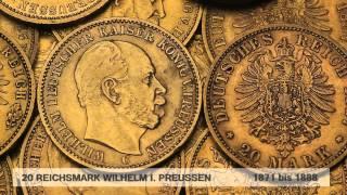 Goldmünze Wilhelm I. / 20 Reichsmark